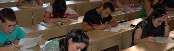 Imagen de alumnos en las pasadas pruebas de Selectividad.