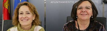 María José Simón y Victoria Delicado, concejalas del Grupo Municipal Ganemos Albacete.jpg