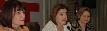 Micaela Navarro, Sara Martínez Bronchalo y Araceli Martínez.