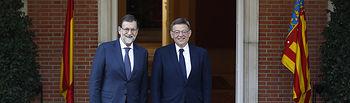 El presidente del Gobierno, Mariano Rajoy, recibe en La Moncloa al presidente de la Generalitat Valenciana, Ximo Puig.