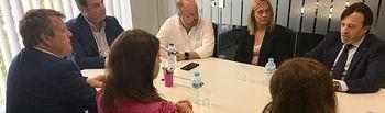 Cuadrado, Picazo y Ruiz (Cs) se reúnen con los máximos representantes del empresariado de Albacete