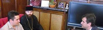 Recepción en el Ayuntamiento Obispo Ortodoxo