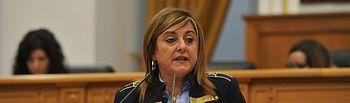 Pilar Martínez Peñarrubia en el pleno de las Cortes.