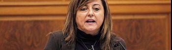 Pilar Martinez durante su intervención en el pleno