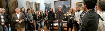 Visita alumnos Finlandia a Diputación.