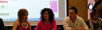 La decana y la presidenta durante la firma del acuerdo.