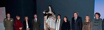 La vicepresidenta inaugura la nueva exposición sobre Santa Teresa en el Museo Nacional de Escultura (Foto: Pool Moncloa)