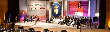 Pilar Zamora durante su discurso en el acto institucional del Día de la Región(Foto: José Ramón Márquez-Ignacio López // JCCM)