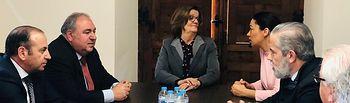 Vicente Tirado se reúne con la presidenta de la Cámara de Comercio de Toledo, María de los Ángeles Martínez Hurtado.