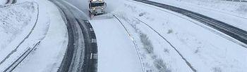 Carretera nevada.