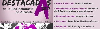 Cartel Destacadas de la Red Feminista en 2017.