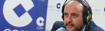 Martínez Guijarro durante la entrevista en la Cadena COPE. Foto: JCCM.