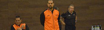 Abraham Carrión y Jesús Torres, entrenadores  de Las Rozas y Amiab.