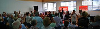 Primer acto de campaña PSOE Villarrobledo.