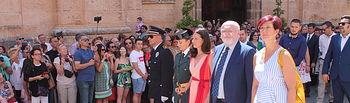 Celebración litúrgica y procesión de la LV edición del Corpus Christi, desarrollada en la Iglesia de Santa Quiteria y en las principales calles de Elche de la Sierra, oficiada por el obispo de Albacete, Ángel Fernández