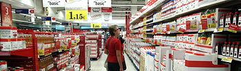 Supermercado Eroski. Foto de archivo.