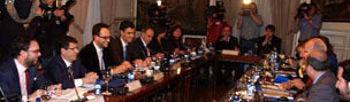 Chaves este lunes en la reunión del pacto antitransfuguismo