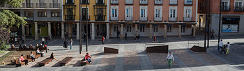 Vista de la calle Mayor de Guadalajara.