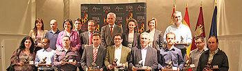Araújo en la entrega de los premios del II Concurso Regional de Vinos de la Tierra del Quijote