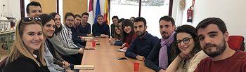 Nacho Hernando durante la Comisión Ejecutiva Regional de Juventudes Socialistas en Castilla-La Mancha