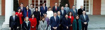 Foto de familia del nuevo Gobierno. Foto: RTVE.