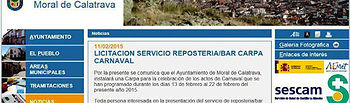Imagen de la web municipal