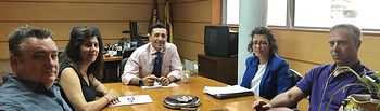 Delegado provincial Fomento y responsables municipales de Yeles.