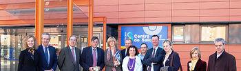 El director gerente del SESCAM, Ramón Gálvez (4i), junto a los representantes del Ministerio de Sanidad y Servicios Sociales de Noruega que han visitado esta semana el Centro de Salud de Buenavista, en Toledo.