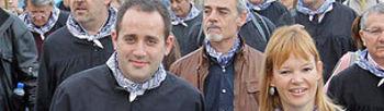 Jorge Alarte y Leire Pajín durante la romería