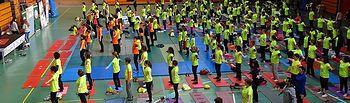 La asociación de niños con cáncer, AFANION, recauda 6.000 euros en las jornadas de pilates solidario