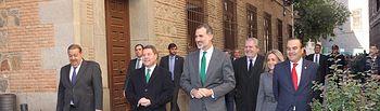 Don Felipe se dirige a pie a la Catedral de Toledo