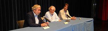 De izquierda a derecha Rioyo, Gutiérrez Aragón y Benjamin Prado
