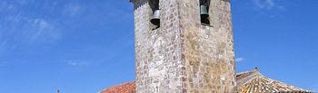 Imagen de la iglesia de San Bartolomé, en Campisabalos, que ha comenzado a ser restaurada a través del Plan del Románico de Guadalajara, con el apoyo del Gobierno de Castilla-La Mancha, además de IberCaja, el obispado Sigüenza-Guadalajara y la Fundación Santa María la Real.