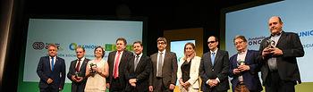El presidente García-Page, en la entrega de los Premios Solidarios ONCE CLM 2016. Foto: JCCM.