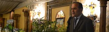 José Julián Gregorio en la cena de Hermandad de San Isidro Labrador en Talavera de la Reina