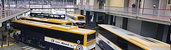 Reducción de líneas y paradas de autobús