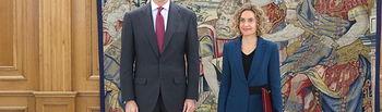 Su Majestad el Rey acompañado por la presidenta del Congreso de los Diputados, Doña Meritxell Batet Lamaña. Foto: Casa de S.M. el Rey