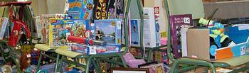 Para este mercadillo se espera la donación de todo tipo de materiales de papelería, juguetes...