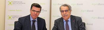 Arturo Tienza (izda.) y José Luis Rojas