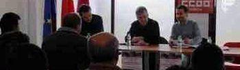 Asamblea de Fecoma-CCOO en la sede del sindicato en Mota del Cuervo