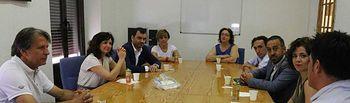 Ciudadanos durante su visita al centro penitenciario Ocaña I