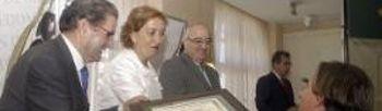 """María Luisa Soriano en la entrega de premios de la IX edición del Concurso de Aceites de Oliva Virgen Extra """"Cornicabra 2011"""""""