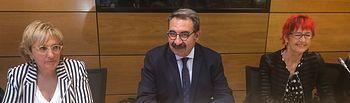 Fernández Sanz en la reunión mantenida en el Ministerio.