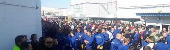 Los trabajadores de Airbus se concentran contra el plan de ajuste y reclaman un Plan Estratégico para las plantas españolas.