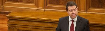 Emiliano García-Page durante la segunda jornada del Debate de Investidura en las Cortes de Castilla-La Mancha