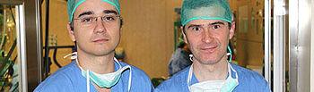 Los doctores Luís López Almodóvar y Alfonso Cañas Cañas