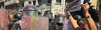 Policías agredidos en Cataluña - 29-09-18 - Foto: Europa Press.