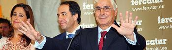 El presidente de Castilla-La Mancha, José María Barreda, interviene en la inauguración de la XV edición de FERCATUR, junto a la alcaldesa de Ciudad Real, Rosa Romero, el y el presidente de la Diputación, Nemesio de Lara.