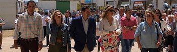 Núñez visita la Feria Agropecuaria San Antonio de Agudo, Ciudad Real.