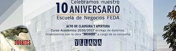 X Aniversario Escuela de Negocios FEDA.
